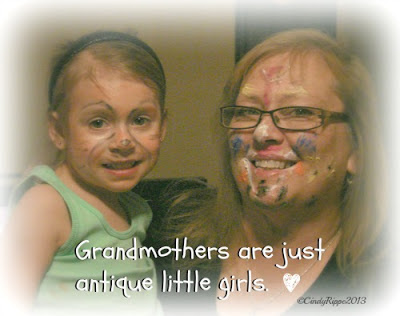 Grandma, face paint, Priceless, Creativity for Kids, Florals, Family, Faith, Cindy Rippe