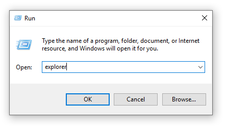 Run Explorer exe to avoid file in use