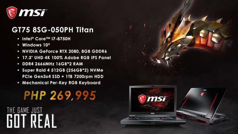 GEForce GT75 8SG-050PH Titan