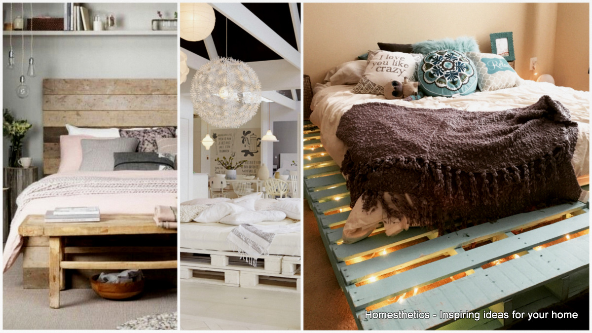 Creative diy recycled pallet bed frames decor units for Creative bed frames diy