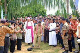 Bupati Resmikan Gereja Kantolik Santo Yosep Tabai