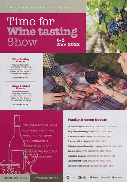 Free wine tasting flyer and poster template download free flyer free wine tasting flyer and poster template maxwellsz