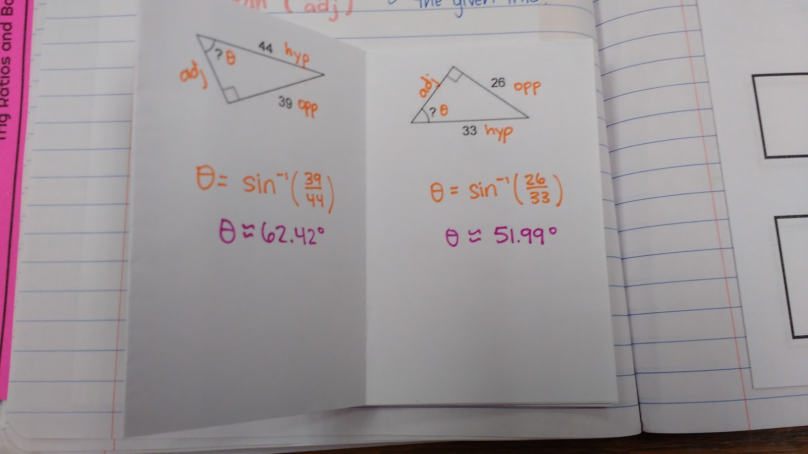 After practicing finding missing sides and angles of right triangles, I  decided to give the class some hands-on practice by having them build their  own ...