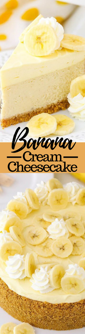 BANANA CREAM CHEESECAKE #dessert