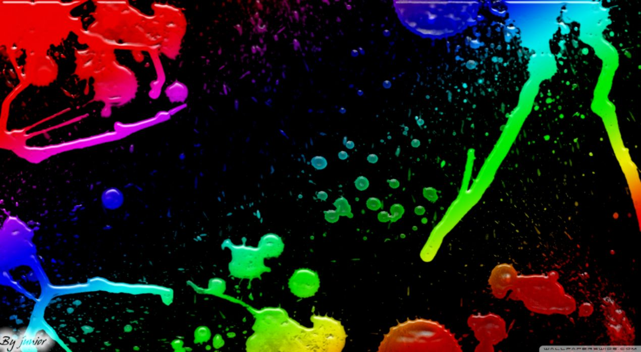 Neon Paint Splatter Desktop Backgrounds | Gold Wallpapers