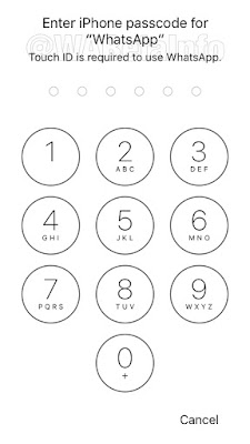 Passcode WhatsApp IOS