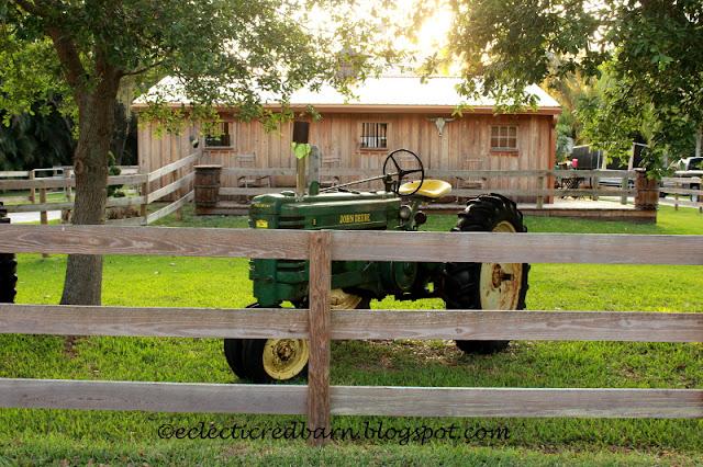 Eclectic Red Barn: Vintage John Deer Tractor