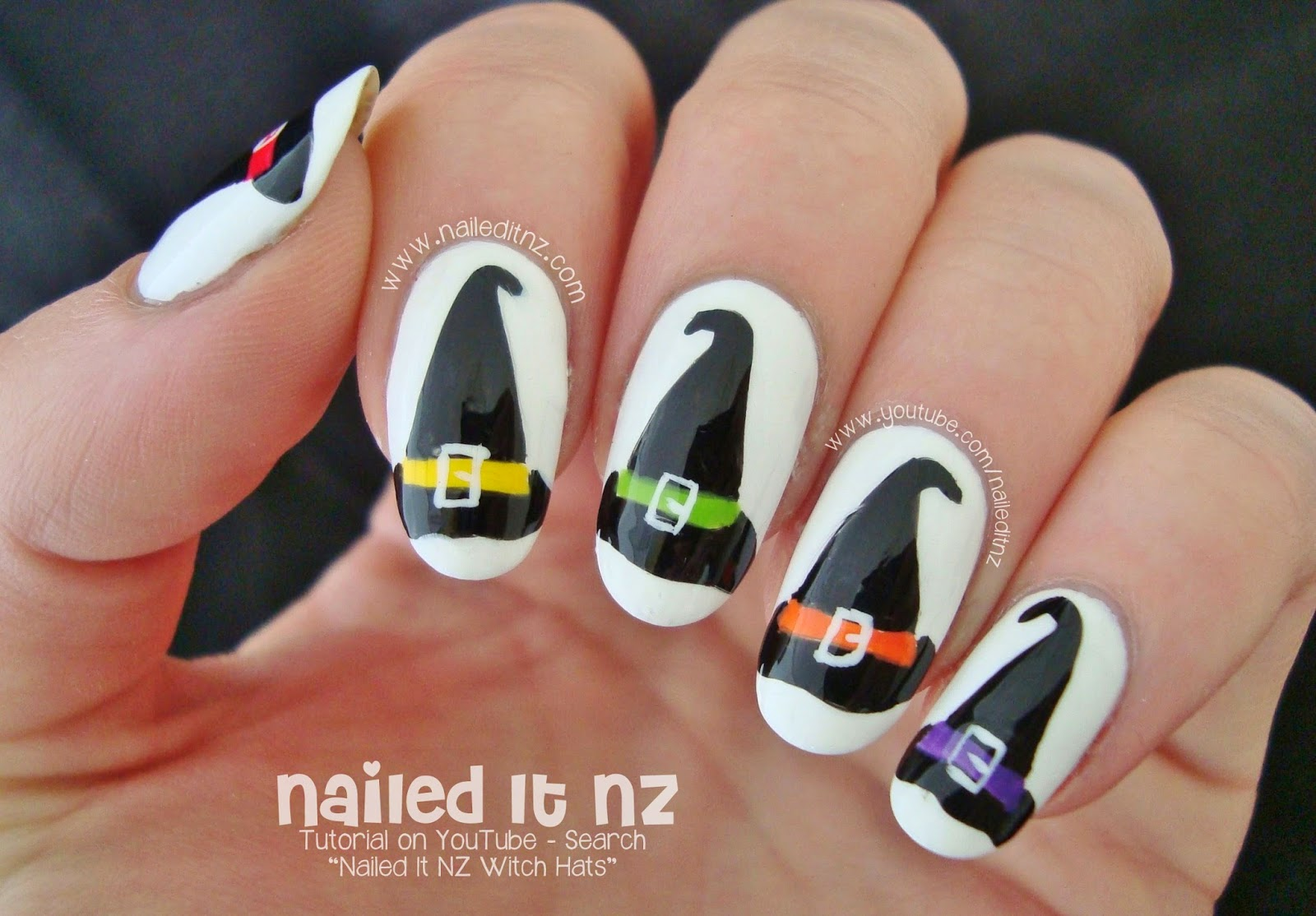 Witch Hat Nail Art for Halloween!