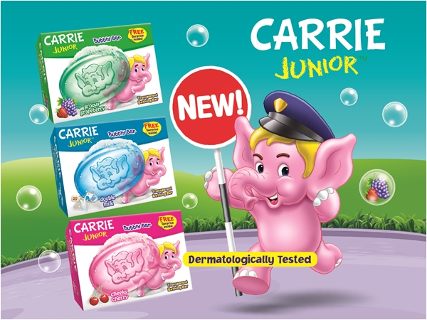 Carrie Junior bubbly bar brings greater bath time fun
