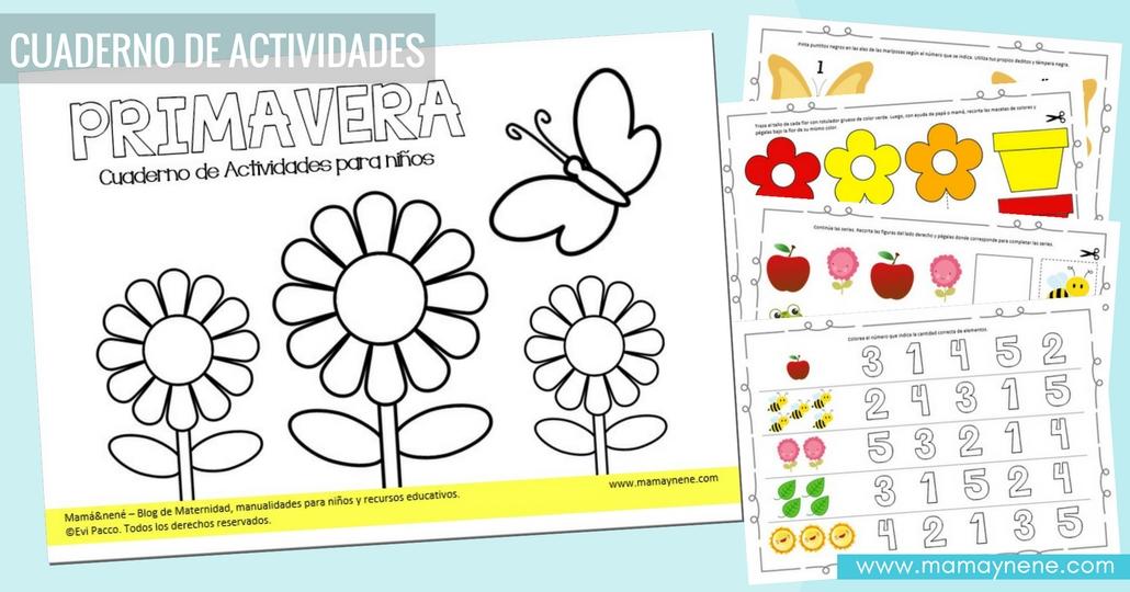Primavera: Cuaderno de Actividades para niños