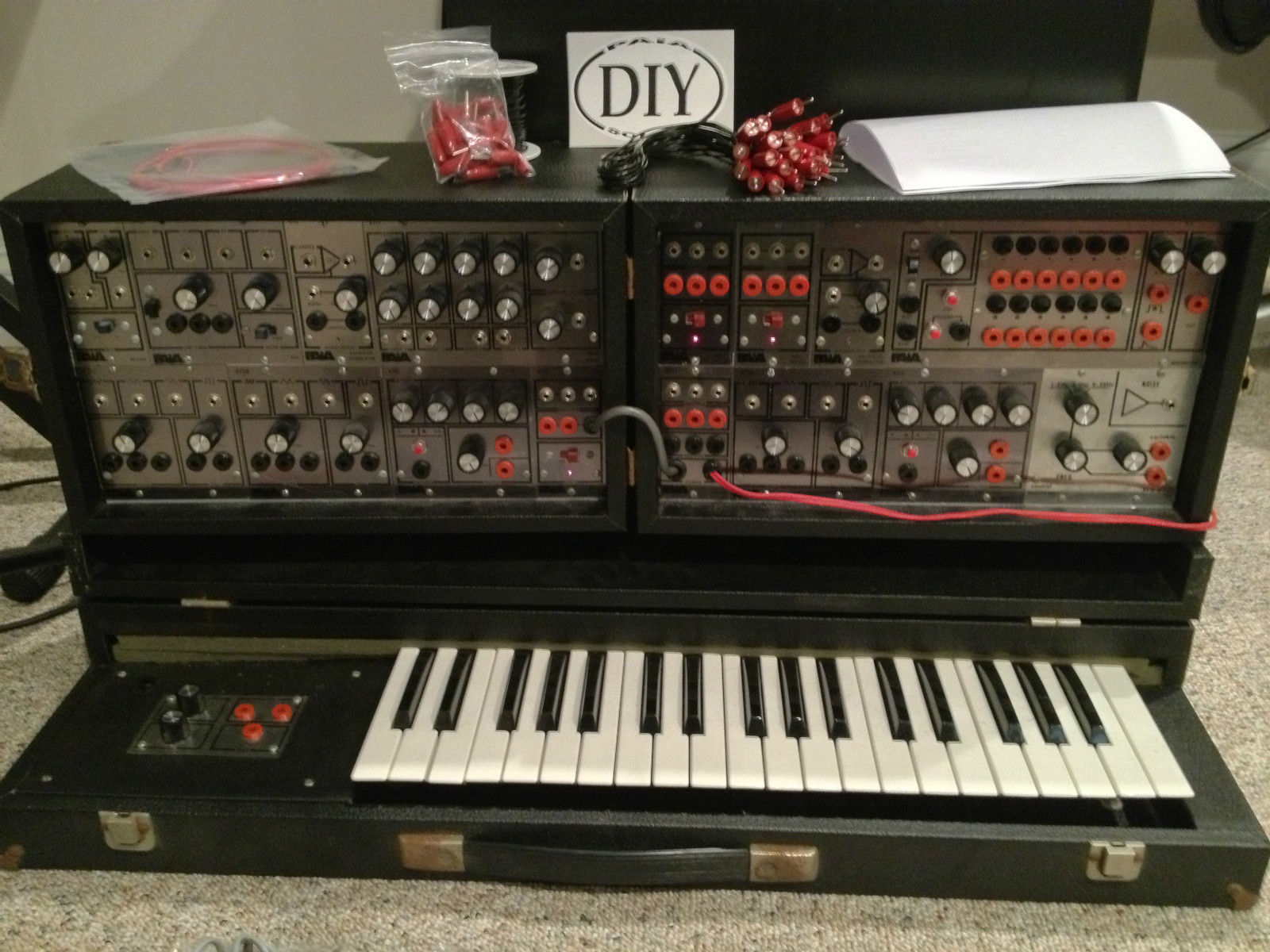 1978 PAIA P4700 J 4700 Vintage Synthesizer with Keyboard I built
