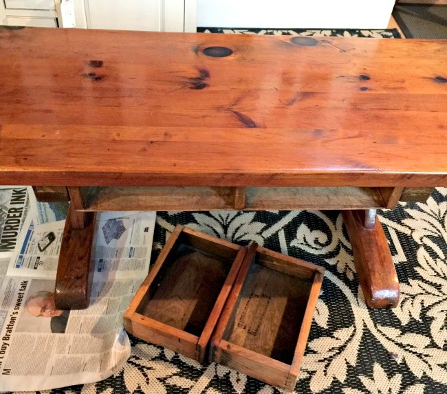 Giving a Rustic Coffee Table a New Classy Look