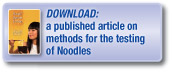 Download a published article covering methods for the testing of noodles