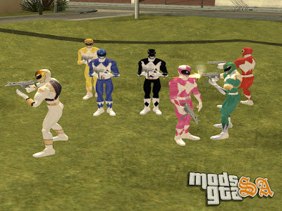 Pack Skins Power Rangers para GTA San Andreas