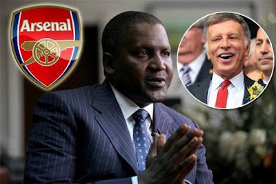 Aliko Dangote Finally Reveals When He Will Be Ready To Take Over Arsenal (See Date)