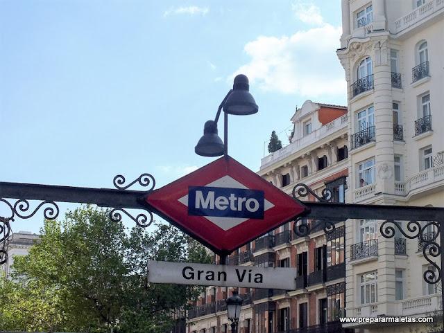 Ruta Gran Vía Madrid, metro