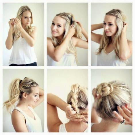 Imágenes de peinados sencillos y prácticos Muy fácil de hacer  paso a paso