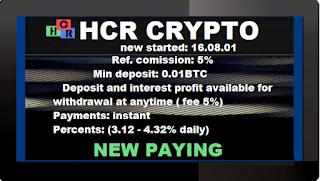 Bitcoin FORUM: HCR CRYPTO investment BTC