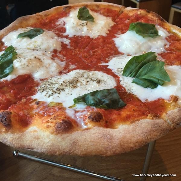 Margherita pizza at Delarosa in San Francisco