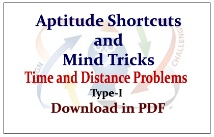 Aptitude Shortcuts and Mind Tricks for Time and Distance Problems