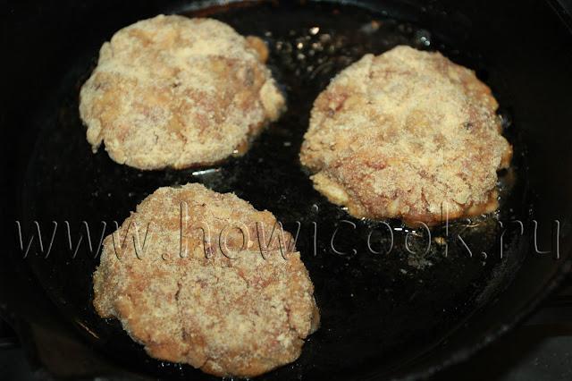 рецепт мясных котлет с грибами с пошаговыми фото
