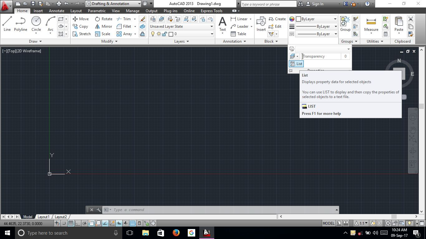 Drawing Lines In Autocad Using Coordinates : Inquiry commands autocad