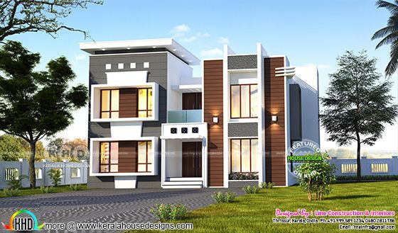 2952 square feet 4 bedroom modern contemporary house
