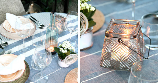 Patchwork à Porter Fashion and Lifestyle Blog: Outdoor decor: country-chic Summer table