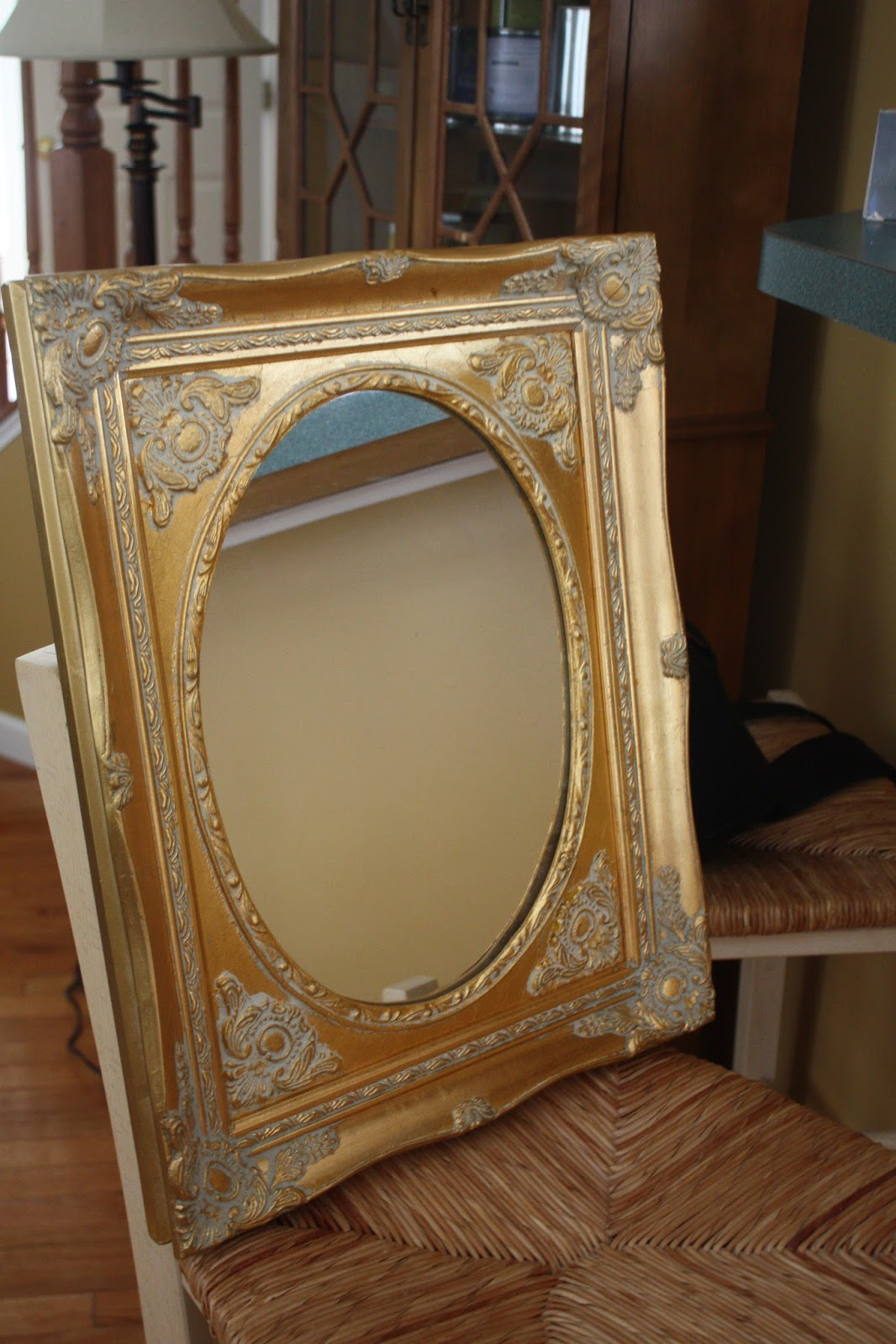 Diy Oval Mirror Frame Mirror Painted With Chalk Paint And Petroleum Jelly