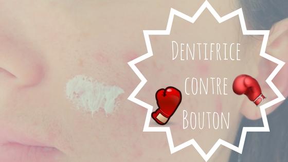 Dentifrice contre Bouton