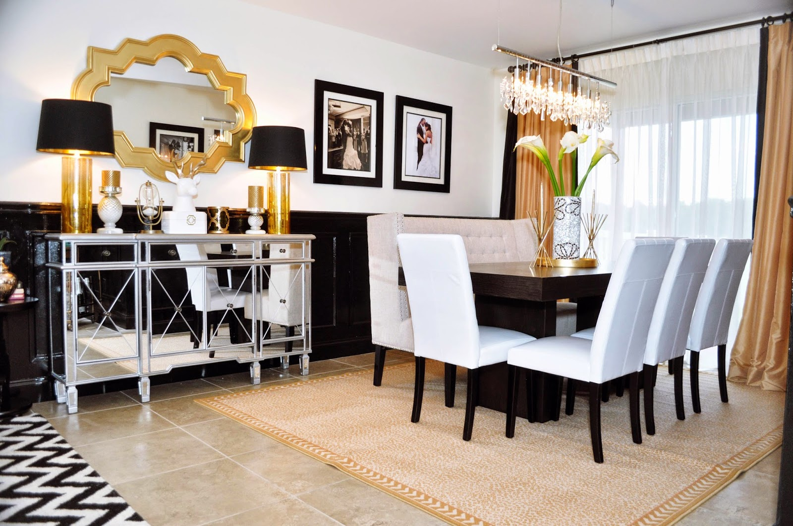 Dining Room Black And White Live Laugh Decorate Designing Clients A Pink Influenced