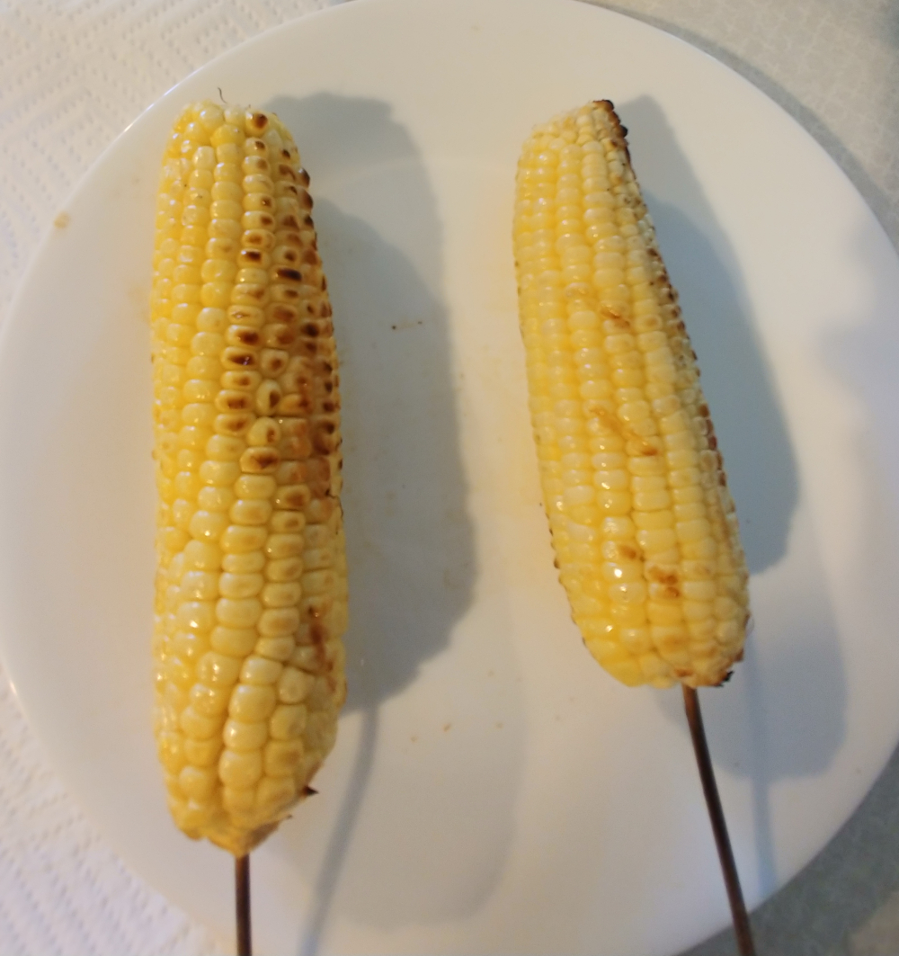 grilled corn for elote