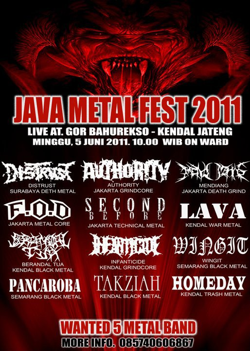 JAVA METAL FEST 2011 - WANTED 5 METAL BAND