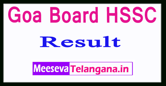 Goa Board HSSC Results 2019