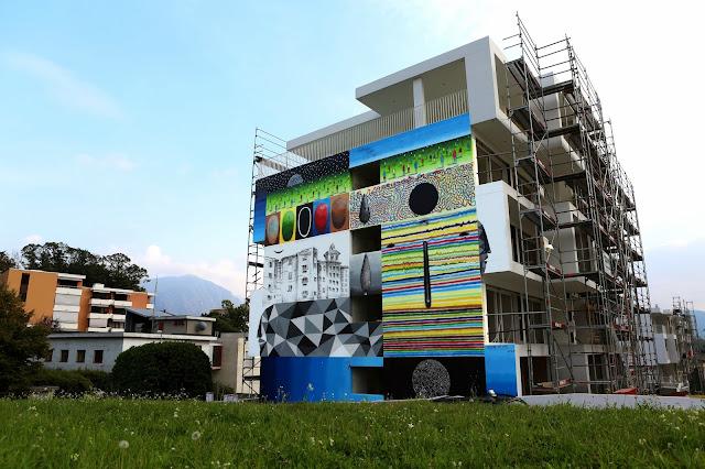 Xuan Alyfe's New Street Art Piece For Arte Urbana Lugano In Switzerland 1