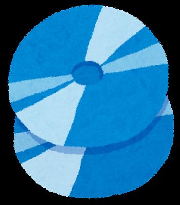 ブルーレイディスクのイラスト
