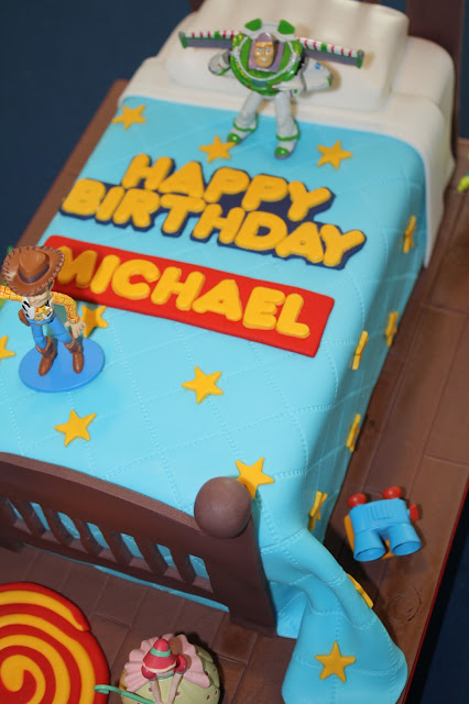 Sandy S Cakes Michael S Toy Story Bed Cake For His 4th