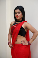 Aasma Syed in Red Saree Sleeveless Black Choli Spicy Pics ~  Exclusive Celebrities Galleries 032.jpg
