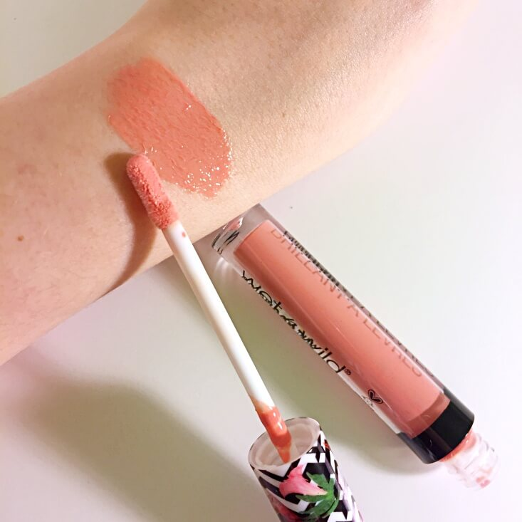 wet n wild coloricon Lip Gloss Featherless swatch