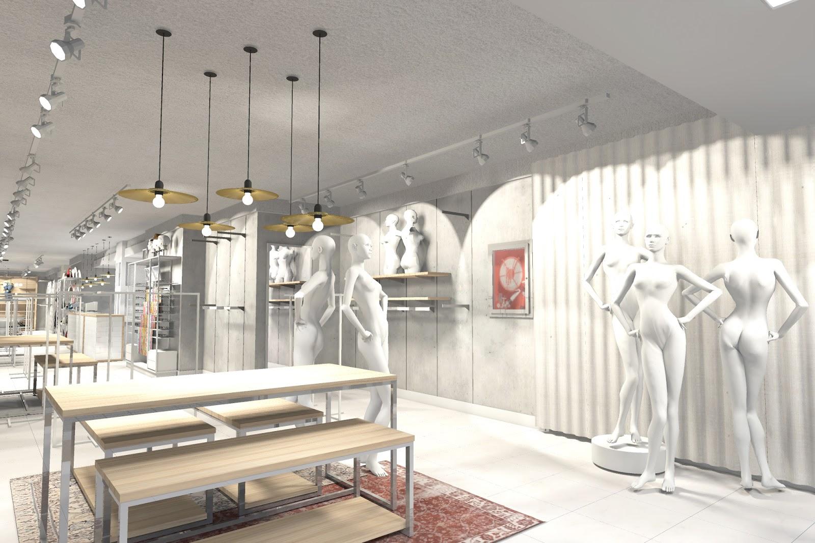 Inshop interiores comerciales merino 39 s tienda de ropa for Oficinas comerciales en el exterior