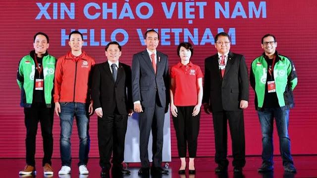 Jokowi Restui 'Goviet'(Ojek Online) Mengaspal di Vietnam