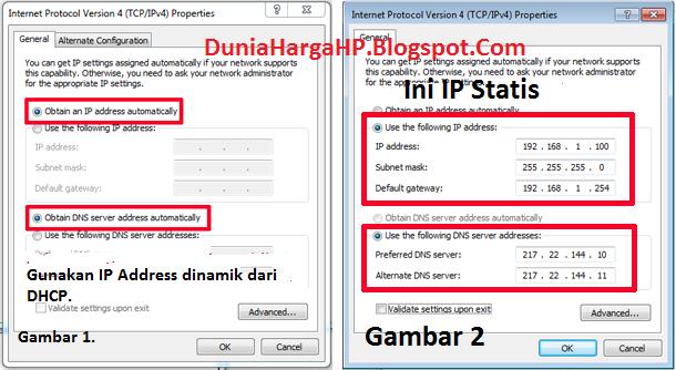 IP Dinamik IP Statis Windows