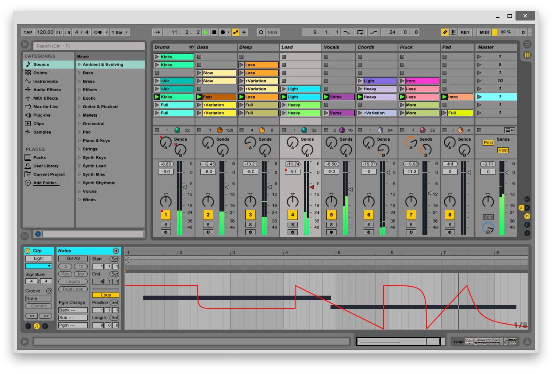 Ableton Live 9 Screenshot