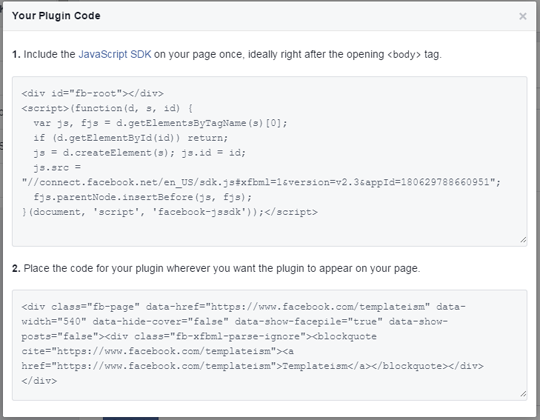 How to Add Facebook Page Plugin in Blogger ~ My Blogger Lab