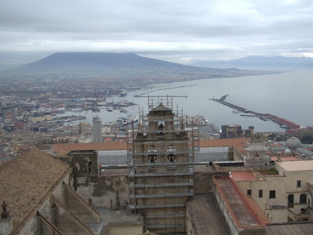 widok na zatokę Nepolitańską, widok z góry