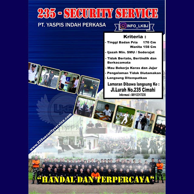Loker PT. Yapis Indah Perkasa (235 Security Service)