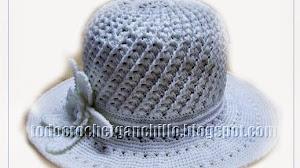 Patrón de Sombrero tejido al Crochet
