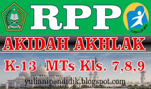 Rpp Akhdah Akhlaq Mts Kelas Vii Viii Ix Kurikulum 13 Revisi Info Pendidikan Com