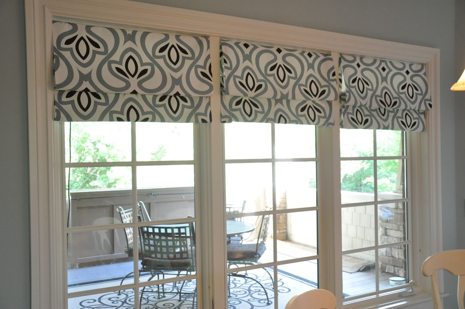 No sew all faux roman shade evolution of style for Roman shades for wide windows