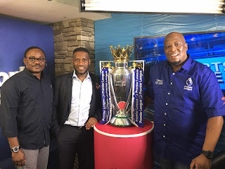 First images of the Premier League Trophy in Lagos